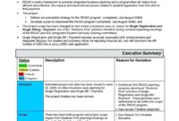 Project Management. Project Management Report Template regarding Monthly Status Report Template Project Management