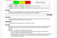 Project Management Report Template Excel Atus Free S within Deviation Report Template