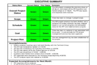 Project Monthly Status Report Template – Atlantaauctionco throughout Project Monthly Status Report Template