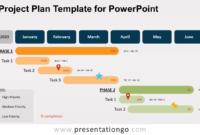 Project Plan Template For Powerpoint – Presentationgo regarding Project Schedule Template Powerpoint