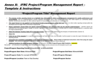 Project/programme Report Template with M&e Report Template