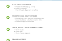 Project Status Report Checklist – Creating Your Weekly Report in Daily Status Report Template Software Development