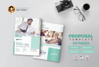 Proposal Features: 20 Pages And 2 Team Member Page Layout with Membership Brochure Template