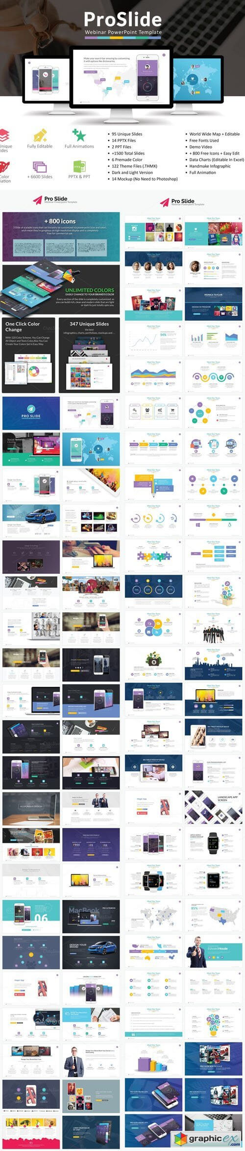 Proslide Webinar Powerpoint Template » Free Download Vector With Webinar Powerpoint Templates