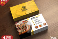 Psd Fast Food Restaurant Business Card Design | Freebie throughout Food Business Cards Templates Free