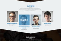 Psd Templates: 20 One Page Free Web Templates | Freebies in Single Page Brochure Templates Psd
