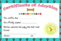 Puppy Party Adoption Certificate Printable   Angie   Puppy pertaining to Toy Adoption Certificate Template