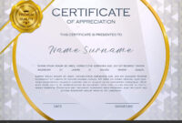Qualification Certificate Appreciation Design Elegant Luxury pertaining to Qualification Certificate Template