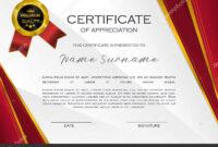 Qualification Certificate Appreciation Design Elegant Luxury with regard to High Resolution Certificate Template