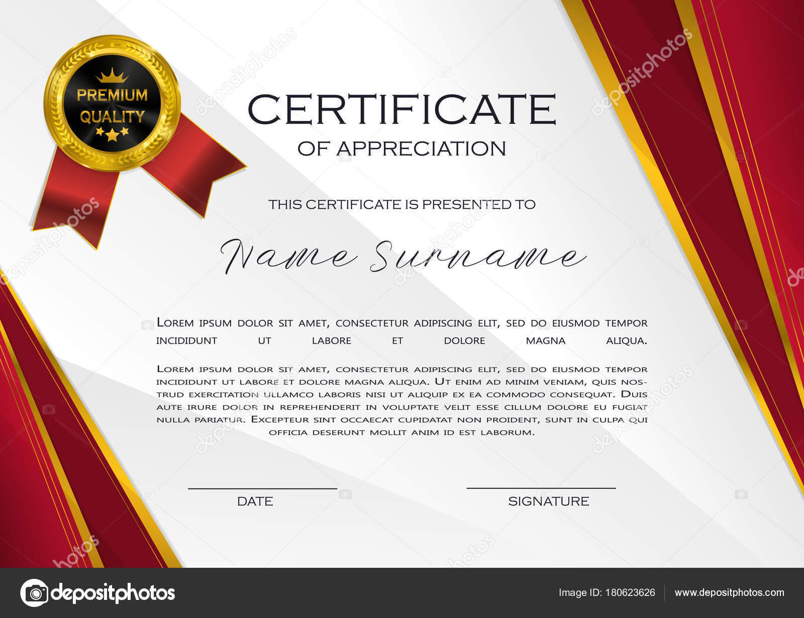 Qualification Certificate Appreciation Design Elegant Luxury with regard to High Resolution Certificate Template