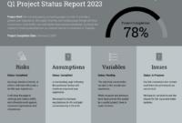 Quarterly Project Status Progress Report Template Template pertaining to It Progress Report Template