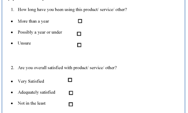 Questionnaire Design Template | Editable Forms pertaining to Questionnaire Design Template Word