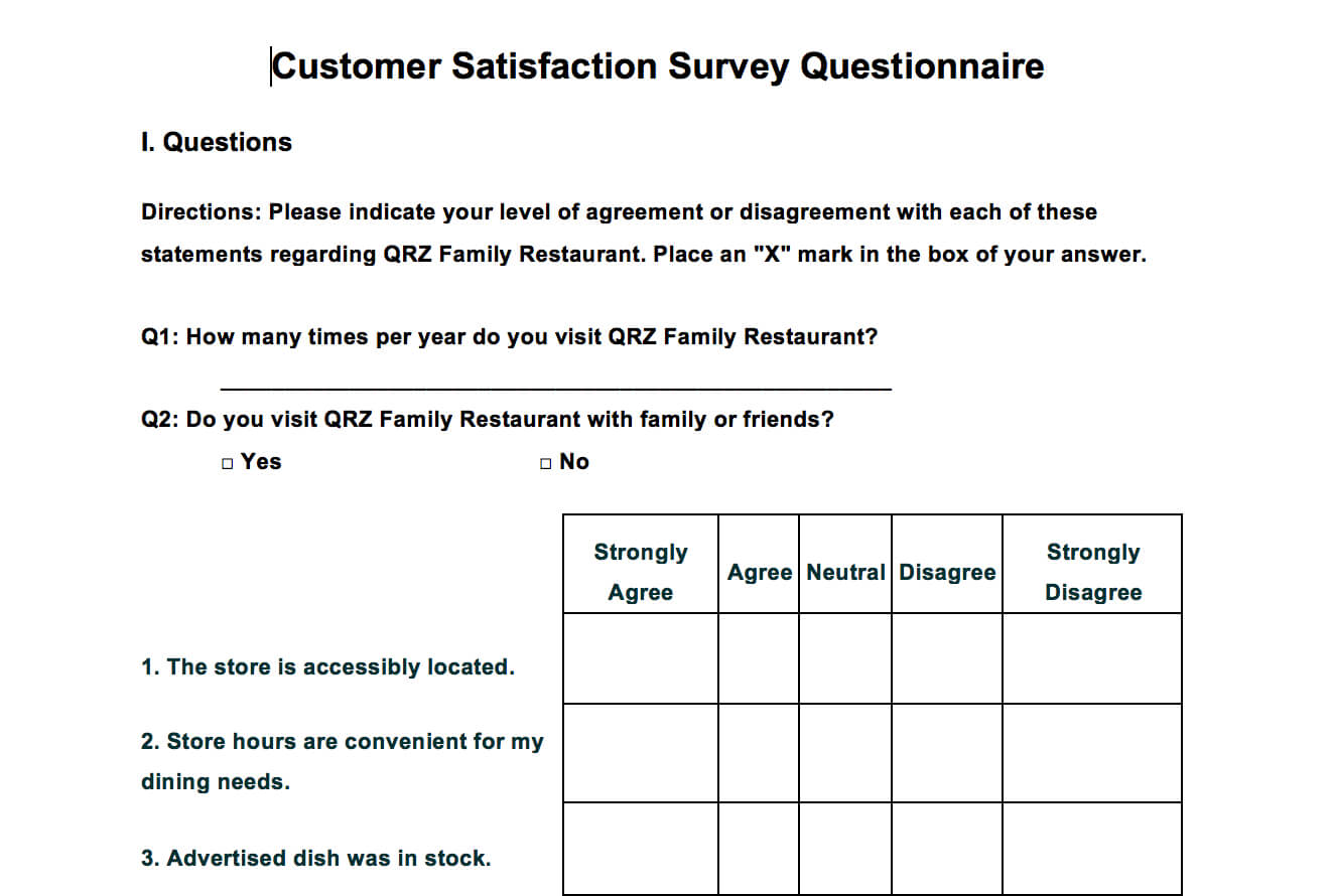 Questionnaire Design Template Word - Atlantaauctionco within Questionnaire Design Template Word
