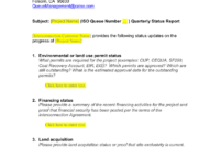 Queue Management Quarterly Status Report Template with Project Implementation Report Template