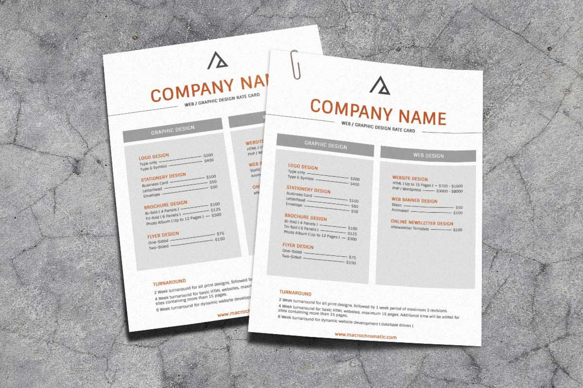 Rate Card Template 650*433 - Rate Card Template Rate Card with regard to Rate Card Template Word