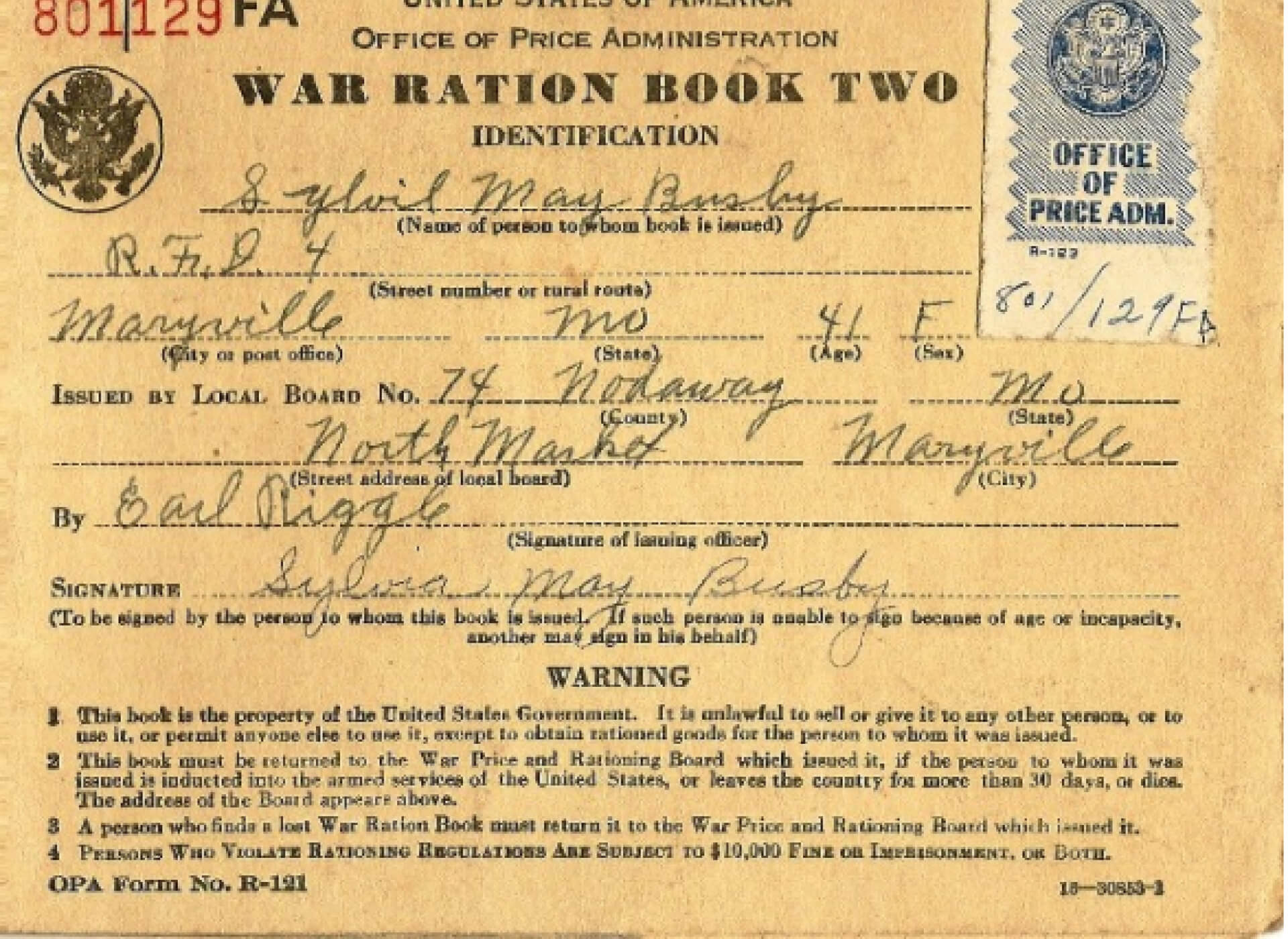 Ration Books | The National Wwii Museum | New Orleans in World War 2 Identity Card Template
