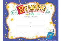 Reading Achievement Award Purple Gold Foil-Stamped Certificates throughout Promotion Certificate Template