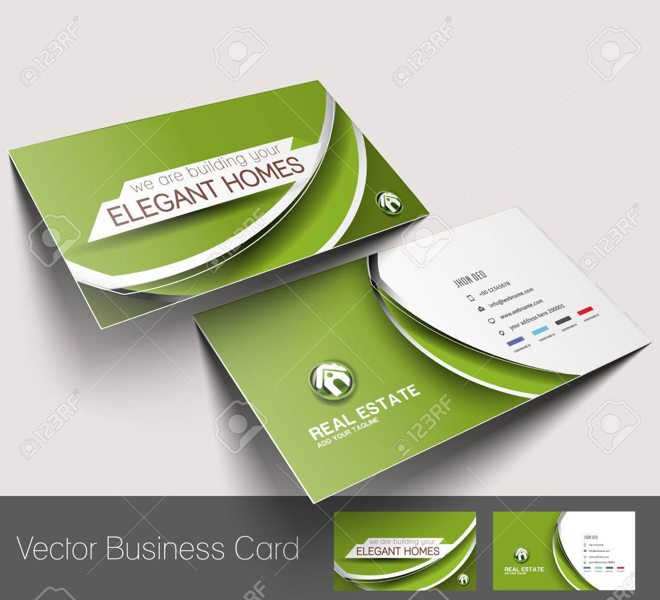 Real Estate Agent Business Card Set Template Pertaining To Real Estate Agent Business Card Template