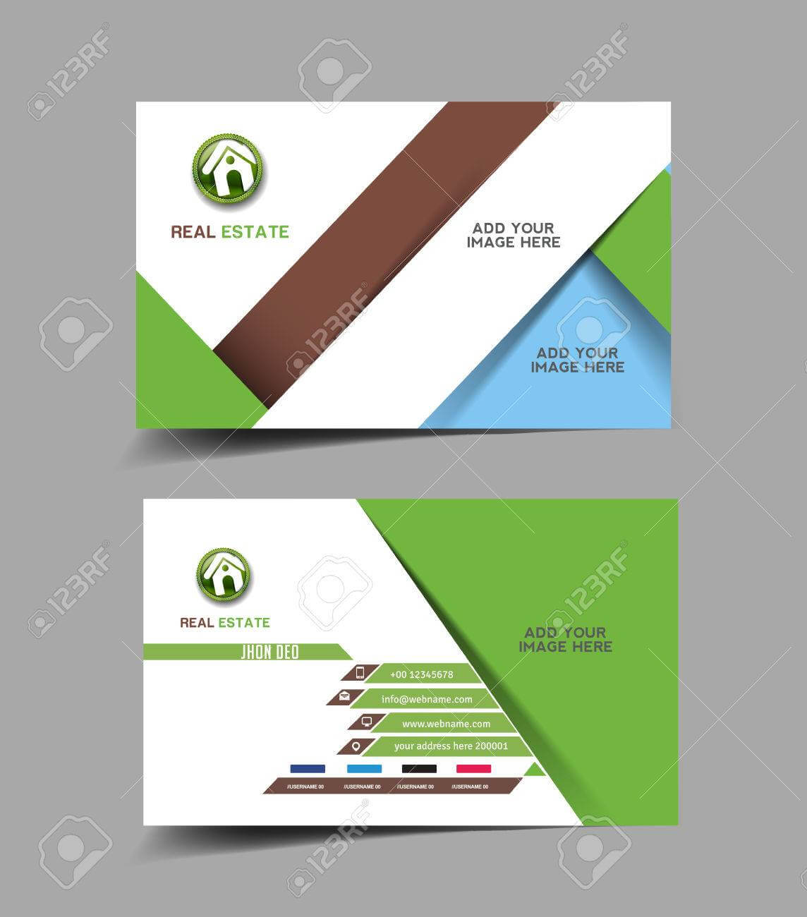 Real Estate Agent Business Card Set Template with regard to Real Estate Agent Business Card Template