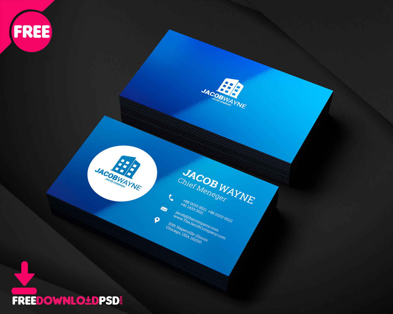 Real Estate Business Card Psd   Freedownloadpsd intended for Psd Visiting Card Templates