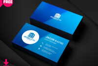 Real Estate Business Card Psd | Freedownloadpsd within Business Card Template Photoshop Cs6