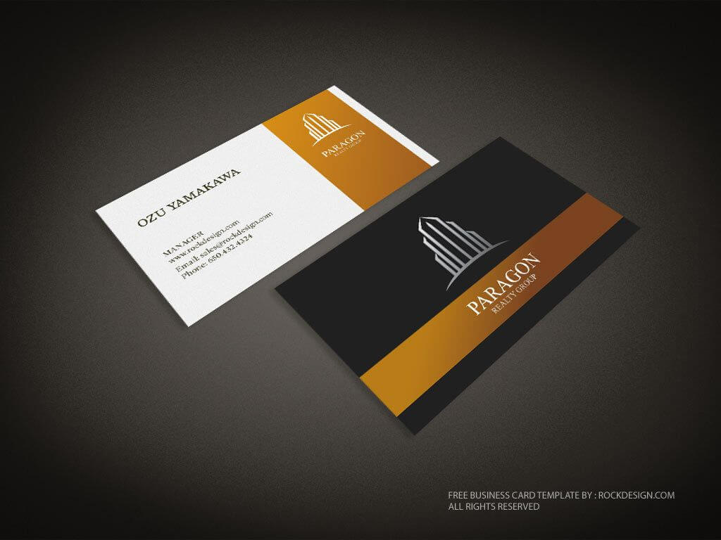 Real Estate Business Card Template | Download Free Design inside Free Complimentary Card Templates