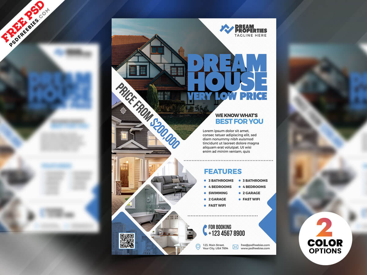 Real Estate Flyer Design Psd | Psdfreebies In Real Estate Brochure Templates Psd Free Download