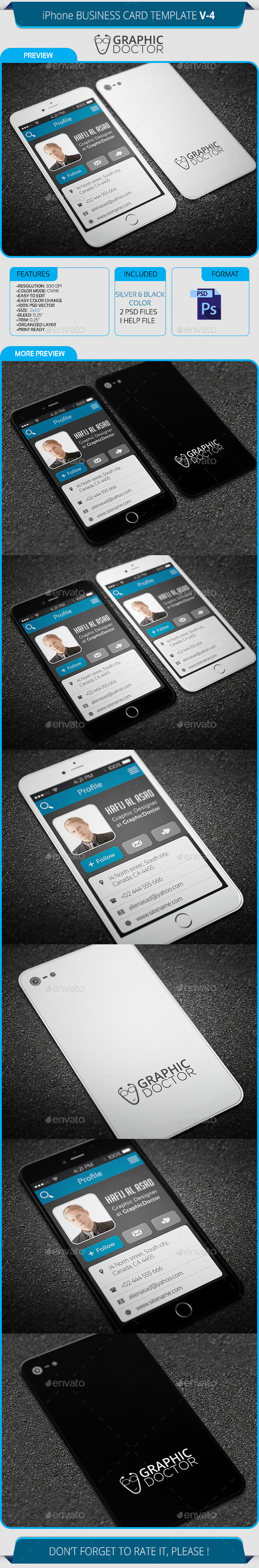 Real Object Business Card Templates From Graphicriver for Iphone Business Card Template