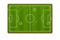 Realistic Football Field Template, Playground With Green throughout Blank Football Field Template
