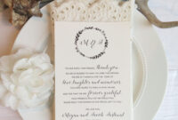 Reception Thank You Card Template | Instant Download Pdf for Template For Wedding Thank You Cards