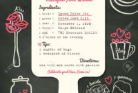 Recipe Card Creative Wedding Invitation Design Template With.. pertaining to Recipe Card Design Template