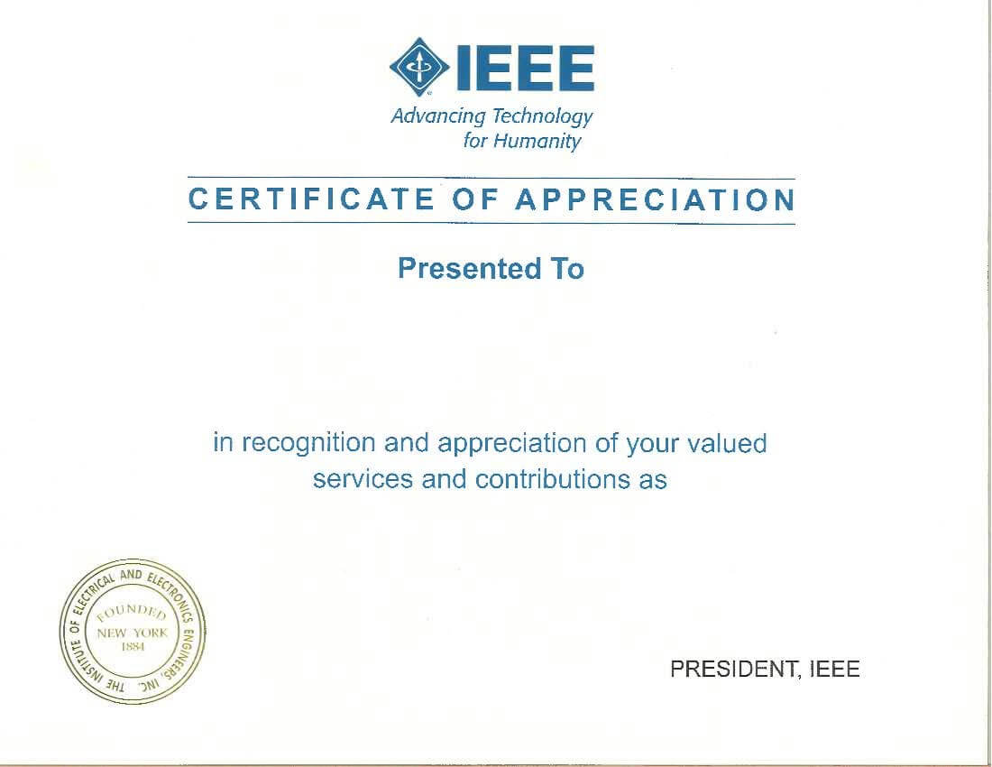 Recognition Products - Ieee Member And Geographic Activities intended for Life Membership Certificate Templates