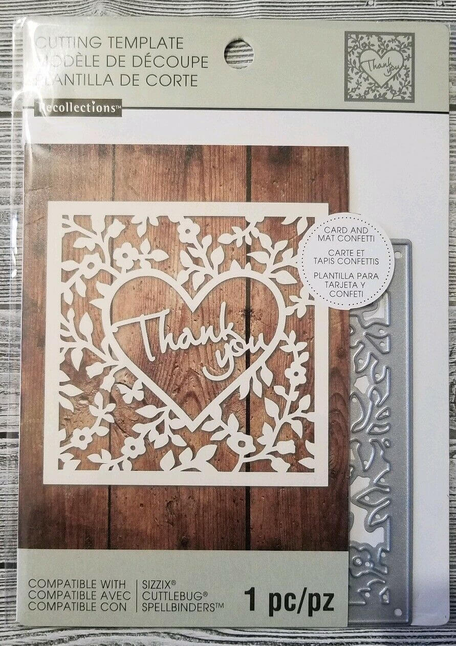 Recollections Cutting Dies Template 542692 Thank You Card Confetti(1 Die)  New pertaining to Recollections Card Template