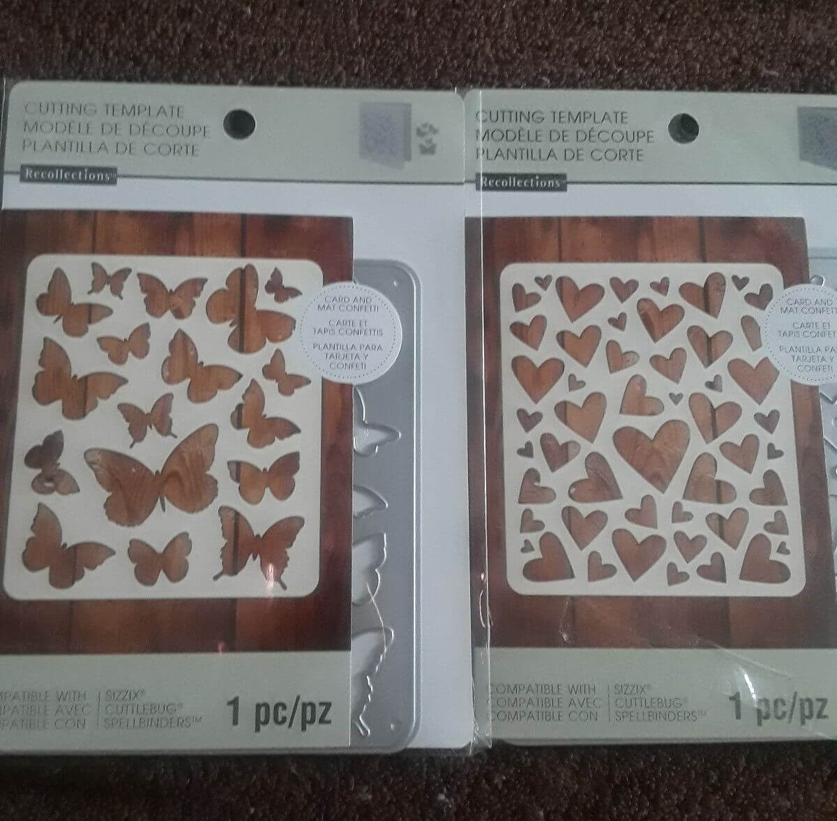 Recollections Cutting Template Butterfly 1 Piece Hearts 1 Piece regarding Recollections Card Template