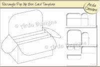 Rectangle Pop Up Box Card Cu Template throughout Card Box Template Generator
