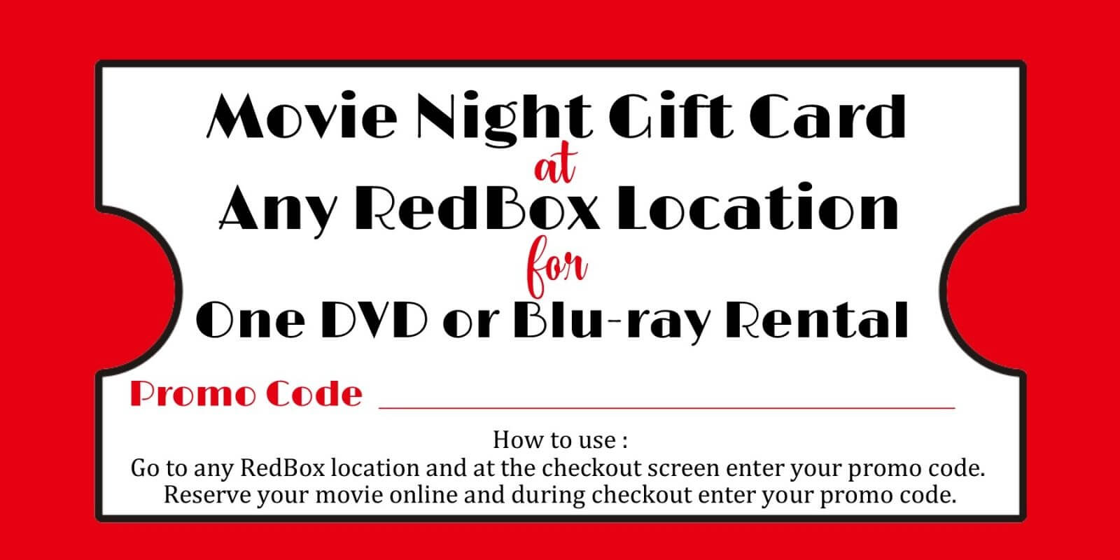 Redbox Movie Gift Tag – Printable File – You Print | Daisy Inside Movie Gift Certificate Template