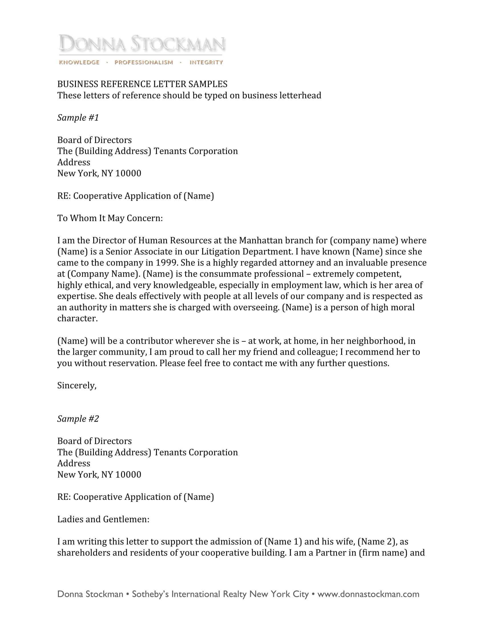 Refernce Letter Examples - Major.magdalene-Project in Business Reference Template Word