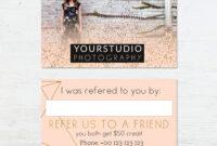 Referral Card Template | Pastel Greetings pertaining to Referral Card Template