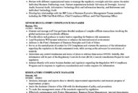Regulatory Compliance Manager Resume Samples | Velvet Jobs intended for Compliance Monitoring Report Template
