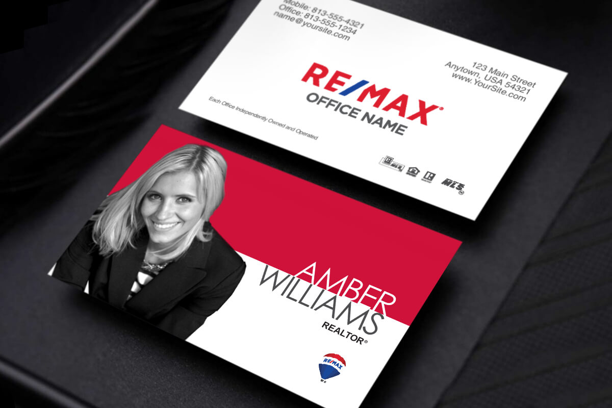 Remax Realtors, Your New Business Card Design Is Here within Office Max Business Card Template