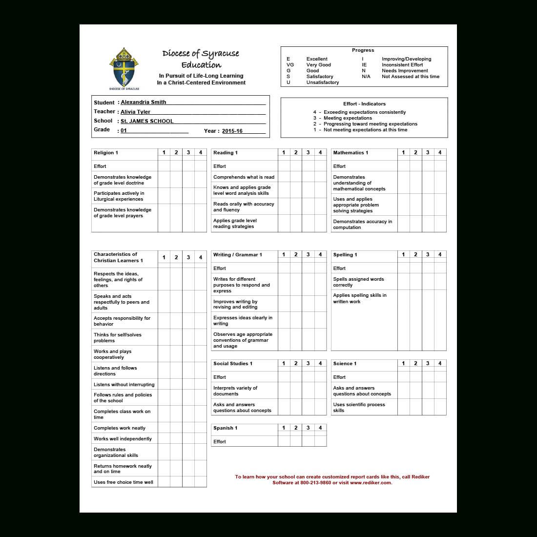 Report Card Software - Grade Management   Rediker Software within Summer School Progress Report Template
