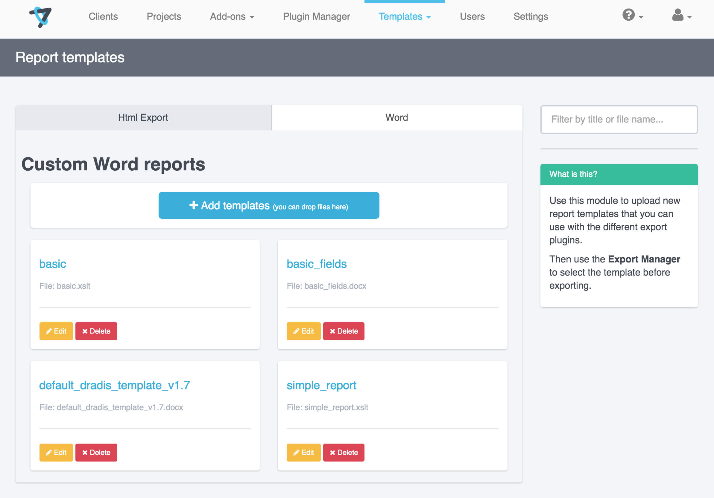 Report Templates | Dradis Pro Help Throughout Reporting Website Templates