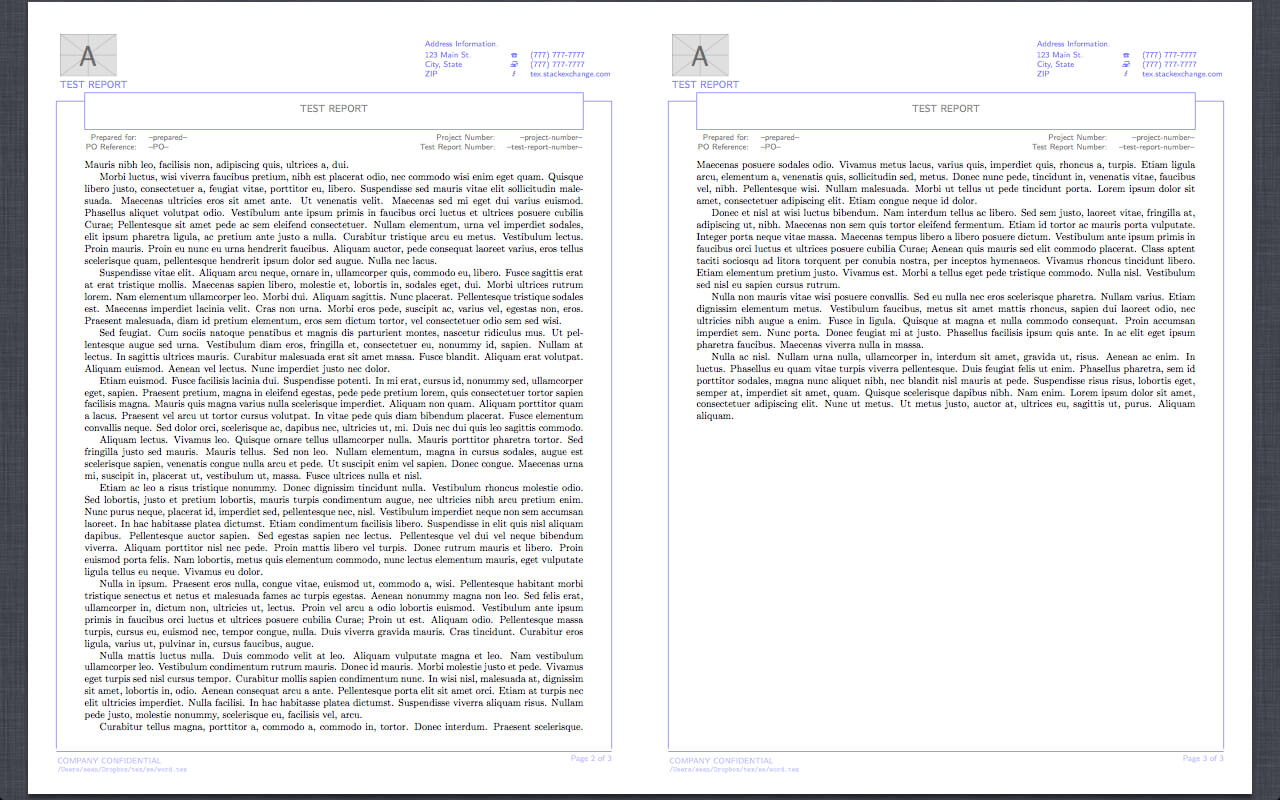 Reproduction Of Word Report Template In Latex - Tex - Latex inside Project Report Template Latex