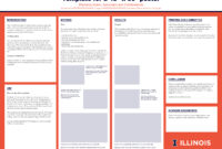 Research Poster   Campus Templates   Public Affairs   Illinois with Powerpoint Presentation Template Size