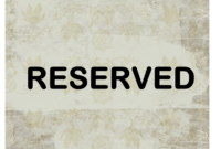 Reserved Sign Throughout Reserved Cards For Tables Templates intended for Reserved Cards For Tables Templates
