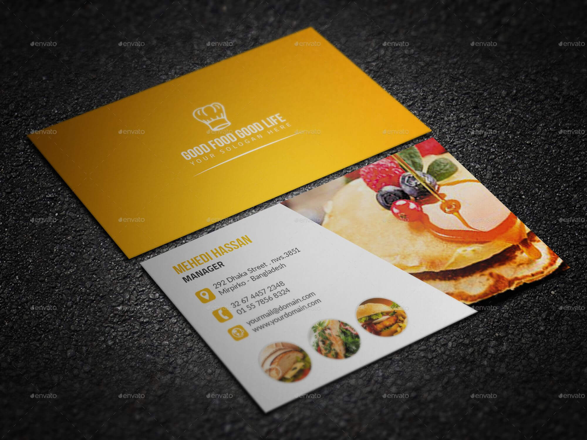 Restaurant Business Card Examples Bundle Letters Visiting with Restaurant Business Cards Templates Free