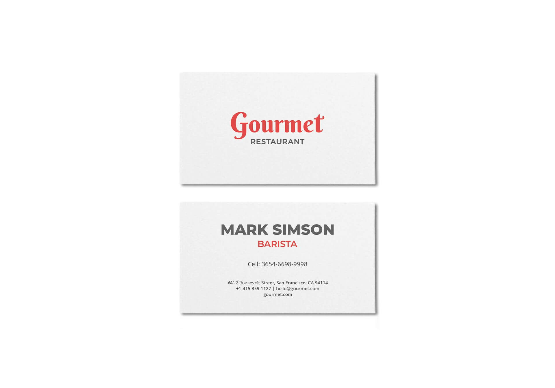 Restaurant Business Card Template In Psd, Word, Publisher in Pages Business Card Template