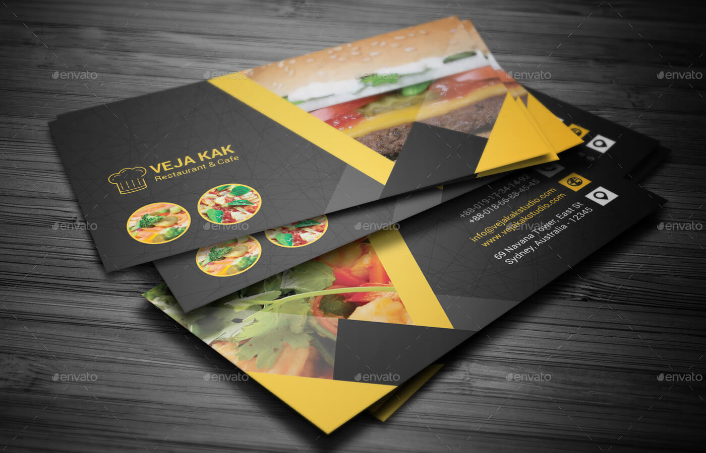 Restaurant Business Card within Restaurant Business Cards Templates Free