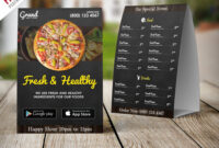 Restaurant Food Menu Table Tent Template Free Psd inside Free Tent Card Template Downloads
