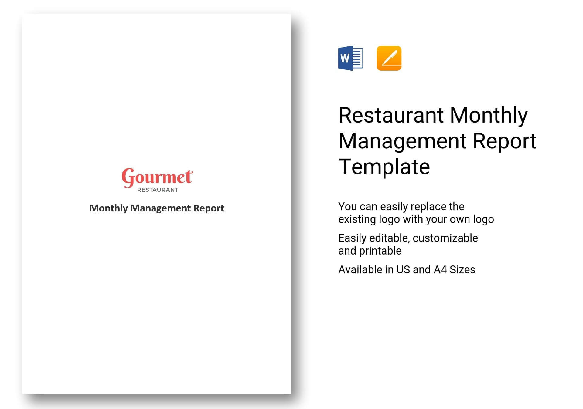 Restaurant Monthly Management Report Template In Word, Apple within It Management Report Template